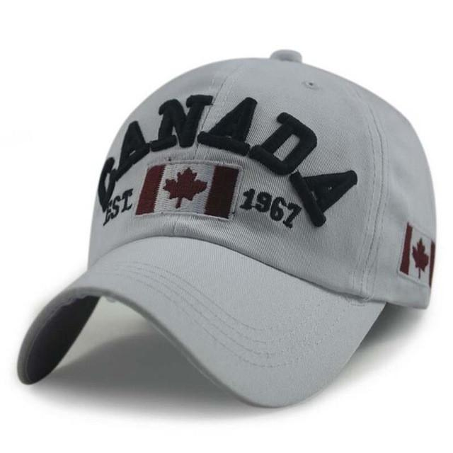 New Arrivals Cotton embroidery Canada Baseball Cap Flag Of Canada Hat Snapback fashion Mens Baseball Caps Brand New For Adult - Deals Blast