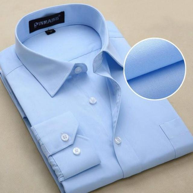 New Design Twill Cotton Pure Color White Business Formal Dress Shirts Men Fashion Long Sleeve Social Shirt Big Size 5XL 6XL - DealsBlast.com
