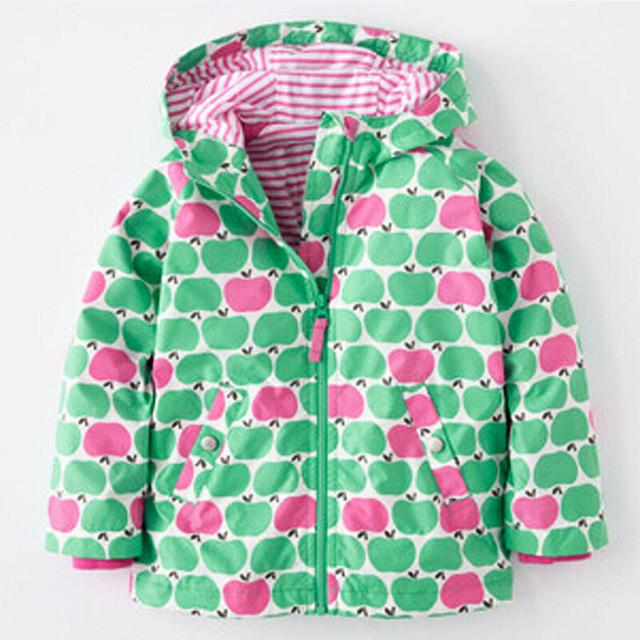 Autumn Spring girls jackets fashion hooded outerwear for girls 2-6 yrs Flower Paint kids clothing girls outerwear - DealsBlast.com