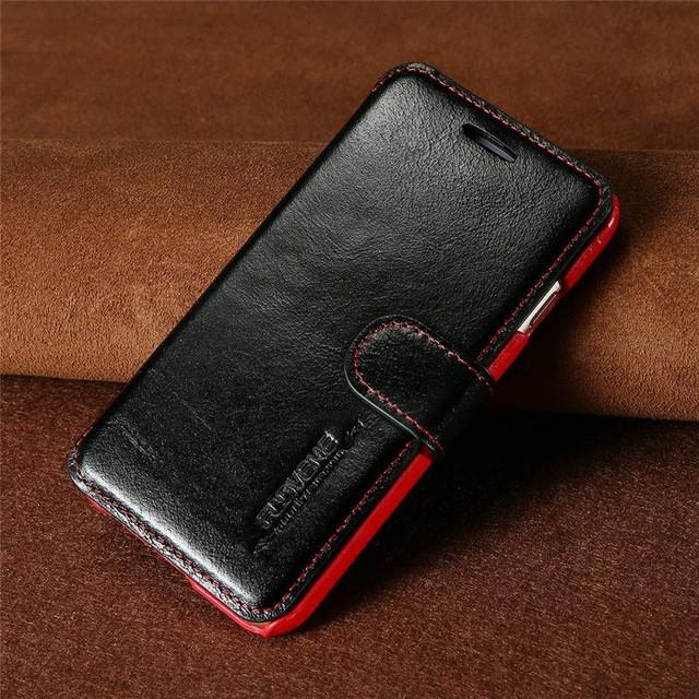 Retro Real Genuine Leather Phone Case For iPhone 6 7 6S Cases For iPhone 6 Plus 6S Plus Card Cash Holder Flip Cover - DealsBlast.com