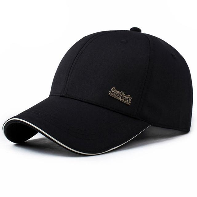 a9e52fff59b Mens Spring Adjustable Cotton Fitted Baseball Caps Male Simple Black Formal Snapback  Dad Hat Fashion Breathable