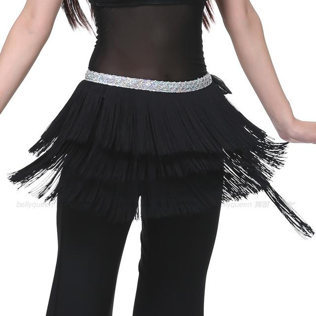 3 Layers Fringe Sequin Oriental Belly Dance Costumes - DealsBlast.com