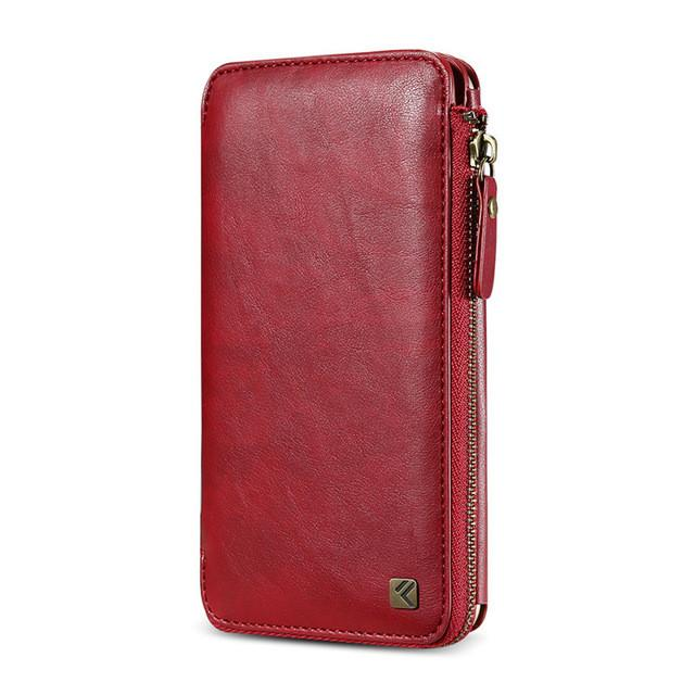 Leather wallet case Antique Business Multifunction 2 in 1 Phone Bag with Card Slot for iPhone 6 6S 7 Plus - DealsBlast.com