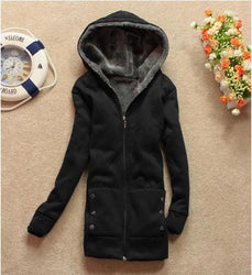 Winter Women Fleece Thick Hoodie Warm Korean Style Long Sleeve - DealsBlast.com