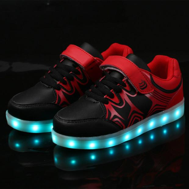 Girls/Boys LED Light Sneakers, Colorful USB Charging Sneakers