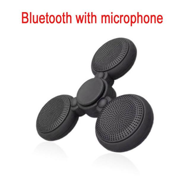 Luminous Mic Fidget Spinner Wireless Bluetooth Speaker With Microphone Handsfree Bluetooth for phone xiomi EDC LED hand spiner - Deals Blast