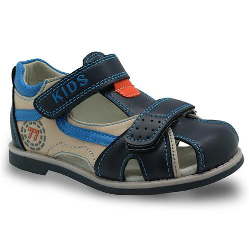 Rubber closed toe Boys sandals Arch Support children's summer orthopedic Shoes boys fashion sandals for Toddler kids - DealsBlast.com