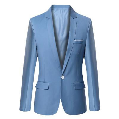 The New 2017 Series Hit Color Multicolor Small Simple Version Of A Buckle Collar Design Linen Men's Clothing Blazers - Deals Blast