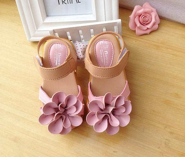 Girl Comfortable Flat Sandals Flower - DealsBlast.com