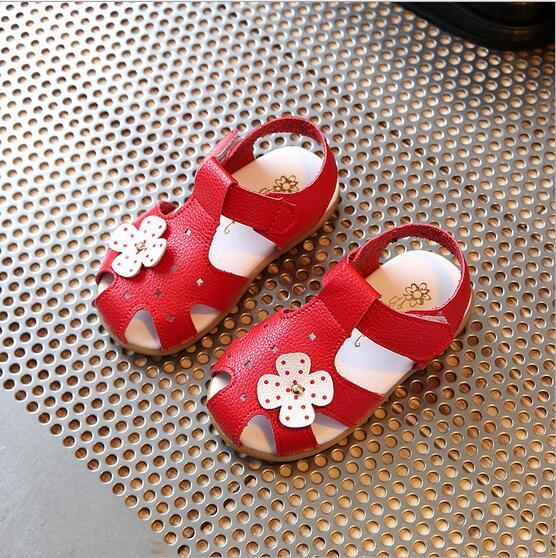 Summer Children Sandals for Girls PU Leather Bowtie Princess Shoes Kids Beach Sandals Baby Toddler Shoes White - DealsBlast.com