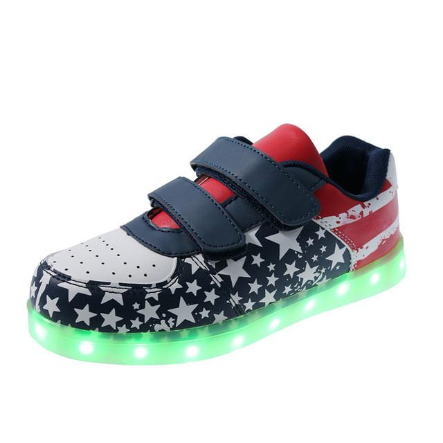 Girls/Boys LED Light Sneakers, Colorful USB Charging Sneakers - Deals Blast