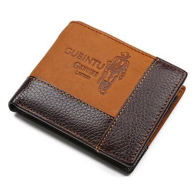 Famous Luxury Brand Genuine Leather Men Wallets Coin Pocket Zipper Men's Leather Wallet with Coin Purse portfolio