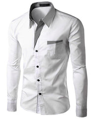 New Fashion Brand Camisa Masculina Long Sleeve Shirt Men Slim Design Formal Casual Male Dress Shirt Size M-4XL 8012