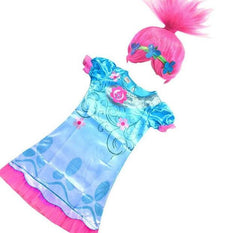 Summer Carnival Costume Trolls Dress For Kids