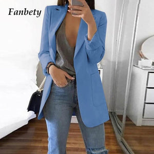 Casual Long Sleeve Business Suit