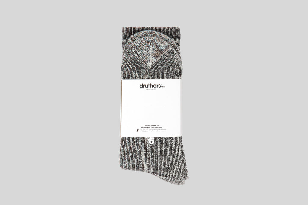 Druthers Heavyweight Merino House Socks (Black)