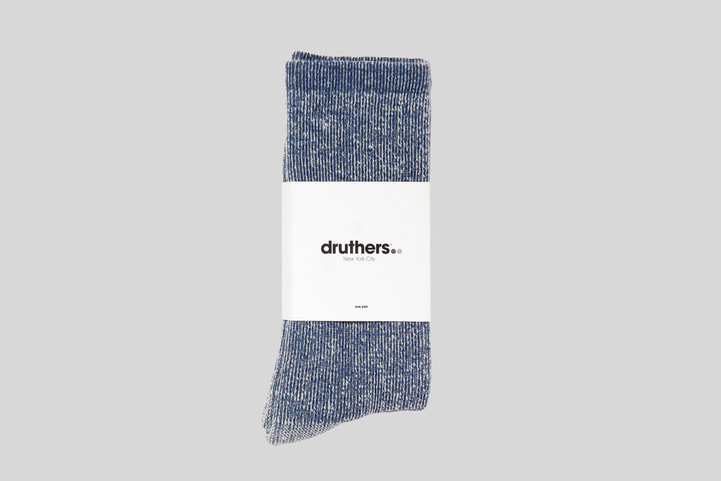 Druthers Heavyweight Merino House Socks (Blue)