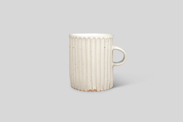 Mt. Washington Pottery Column Mug (White Softly Spotted)