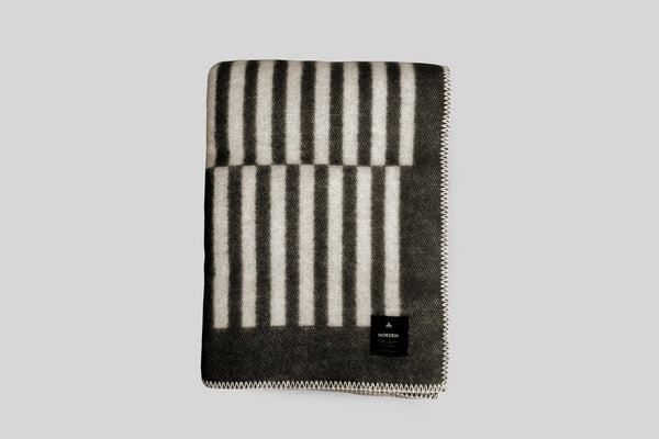 Norden Norrebro Wool Throw Blanket (Black)