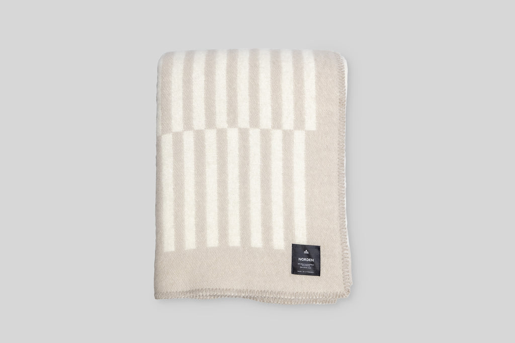 Norden Norrebro Wool Throw Blanket (Desert)