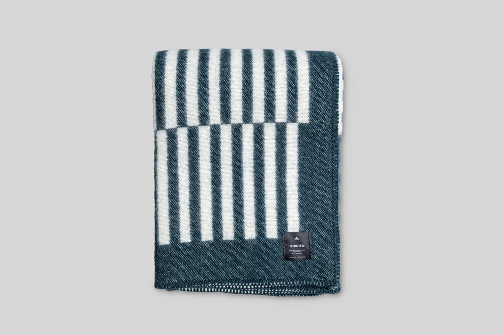 Norden Norrebro Wool Throw Blanket (Forest)