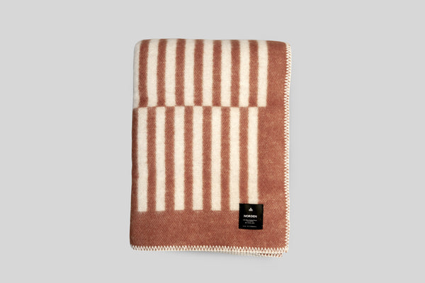 Norden Norrebro Wool Throw Blanket (Terracotta)