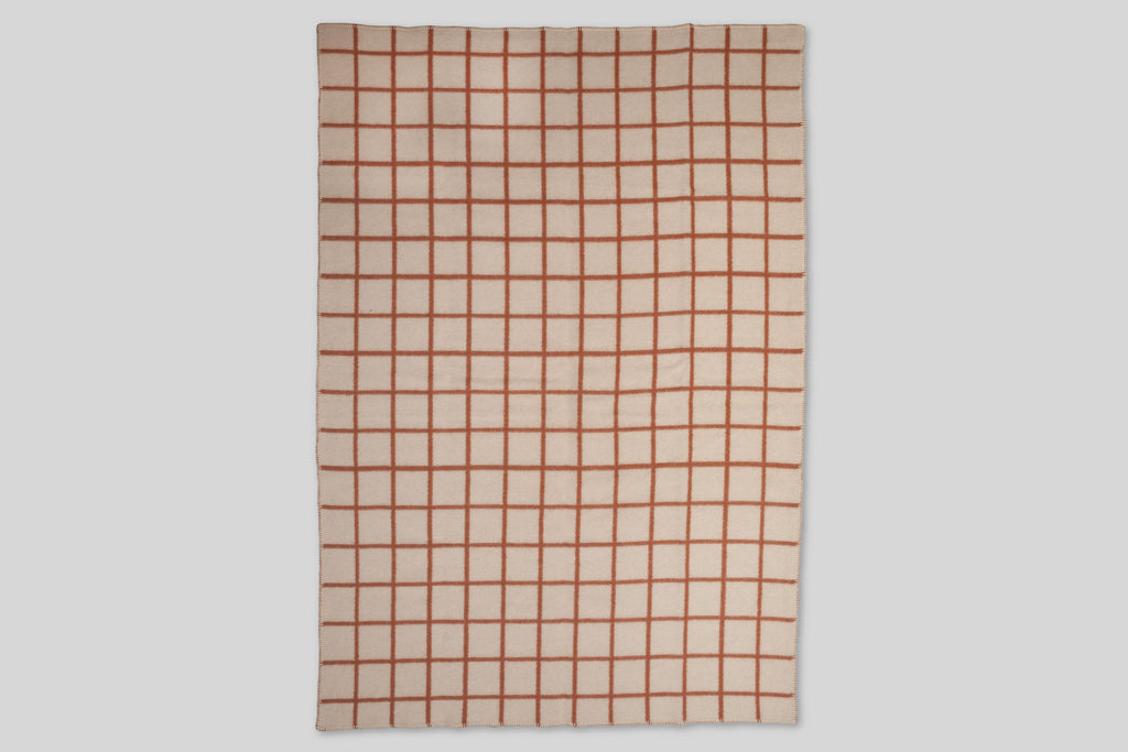 Norden Höfn Wool Throw Blanket (Terracotta)