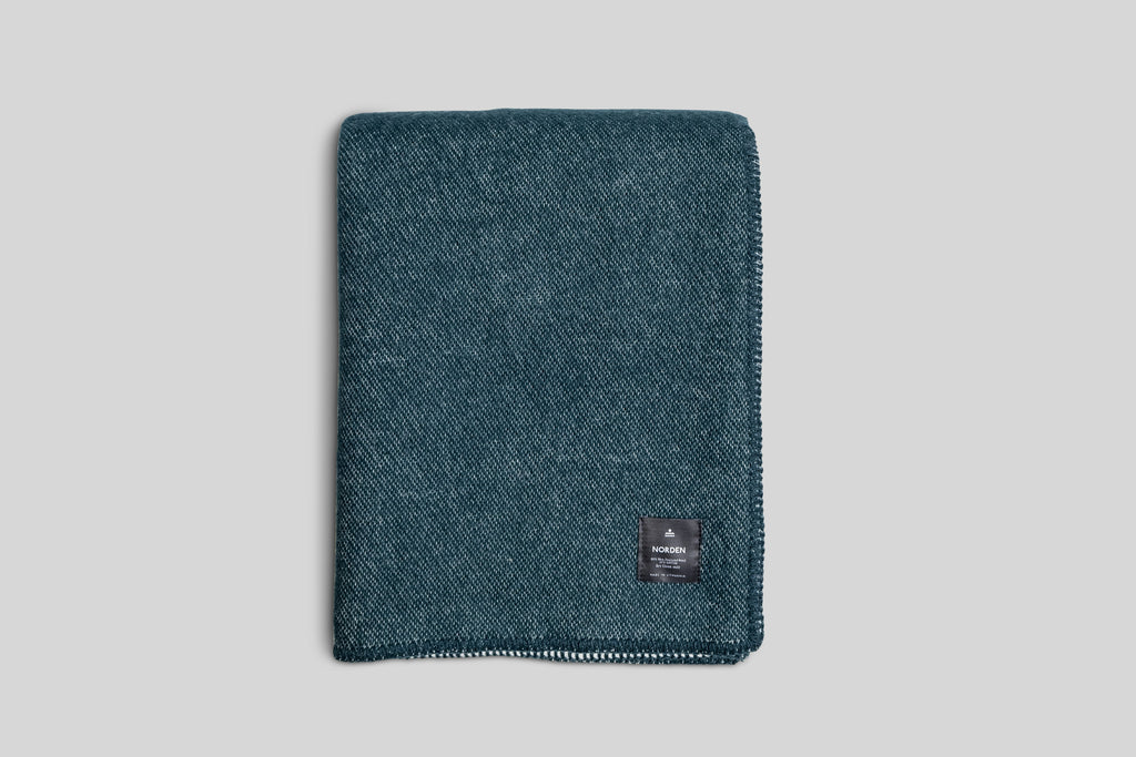 Norden x Faculty Department Wool Throw Blanket (Forest)