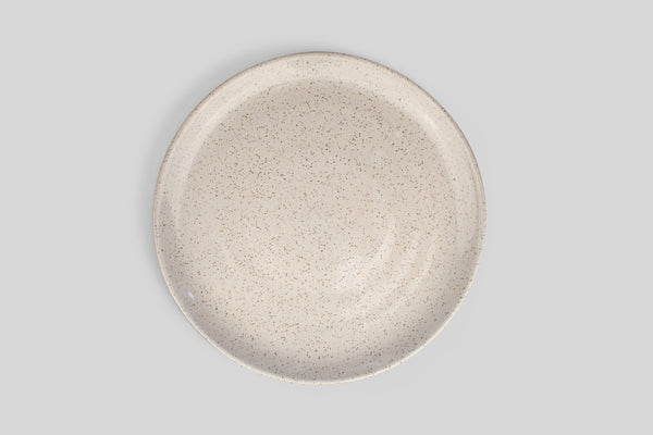 "Norden 10"" Dinner Plate (White Speckle, Raw Bottom)"