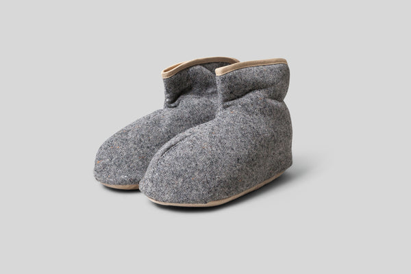 Sasawashi Wool Room Boots (Grey)