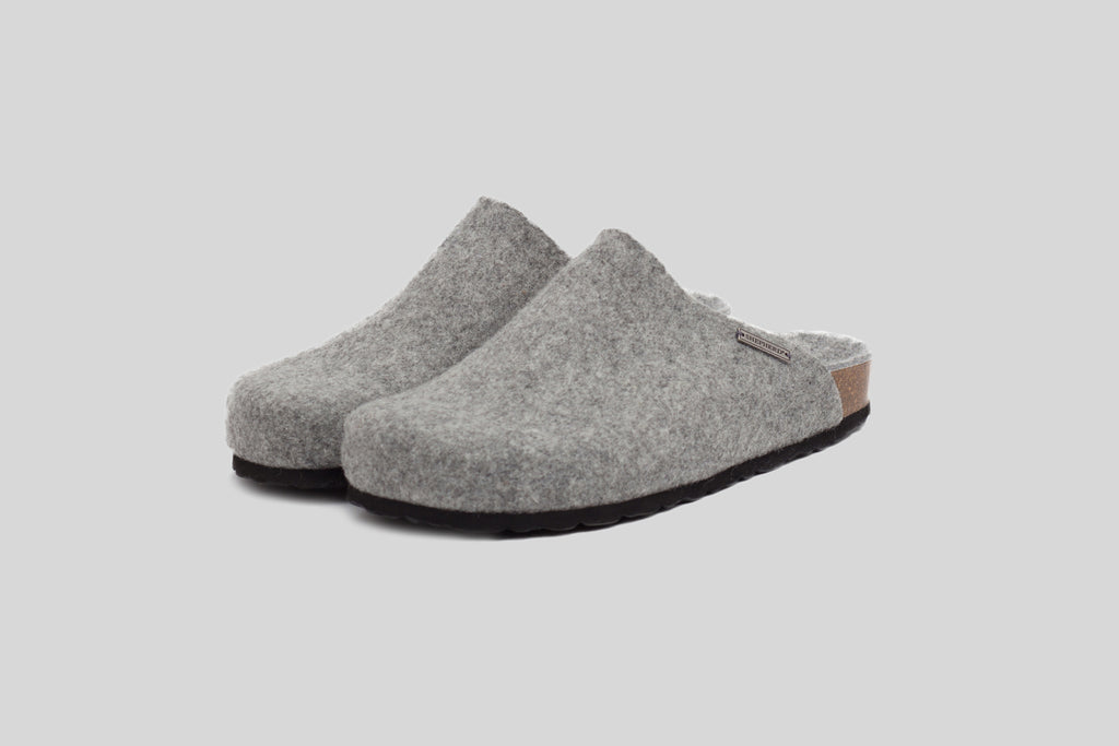Shepherd of Sweden Men's Morgan Slipper (Grey)