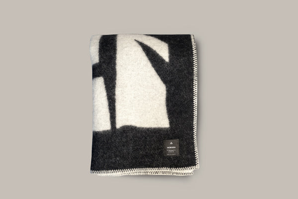 Norden x Cody Hudson Enlightenment Wool Throw Blanket (Black)