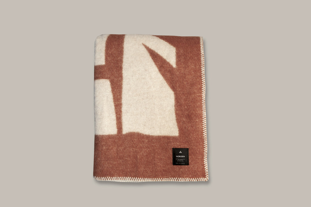 Norden x Cody Hudson Enlightenment Wool Throw Blanket (Terracotta)