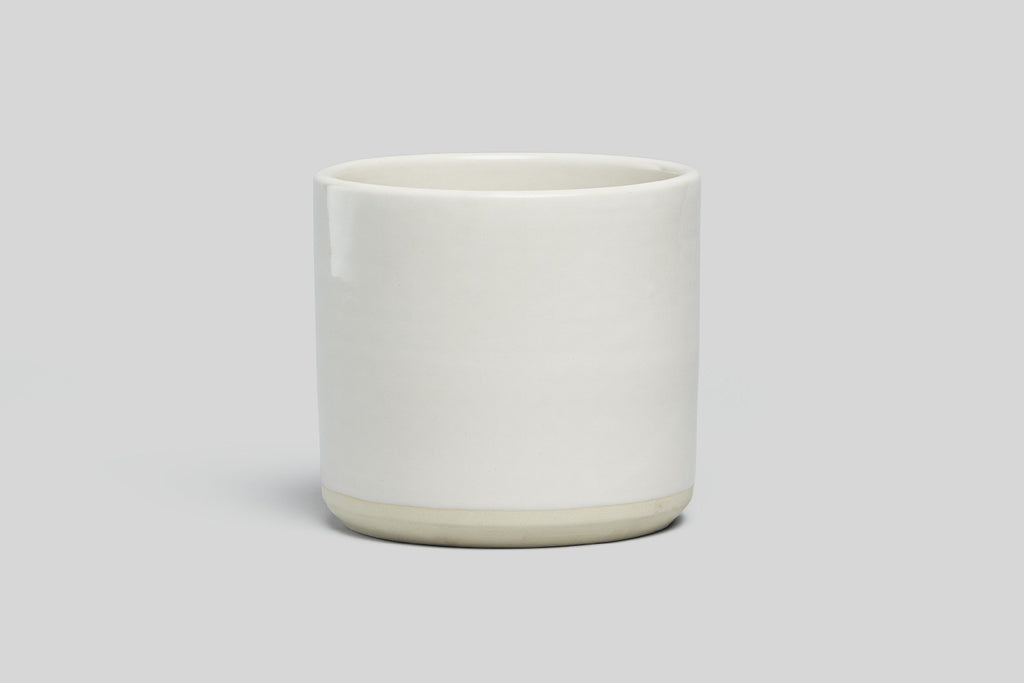 "Norden 7"" Planter (White/Raw)"