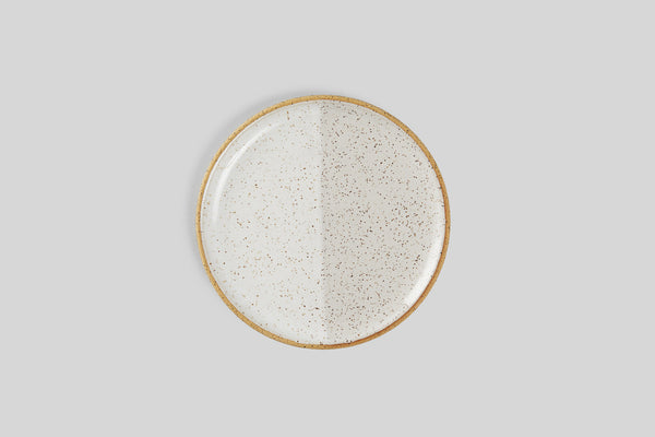 "Norden 8"" Salad Plate (White Speckle)"