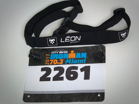 Race belt for runners and triathletes
