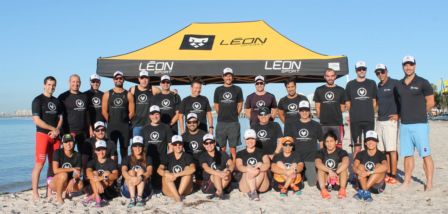 wolves factory at the beach, joint venture, sport training, tri camp for athletes, leon sport and wolves