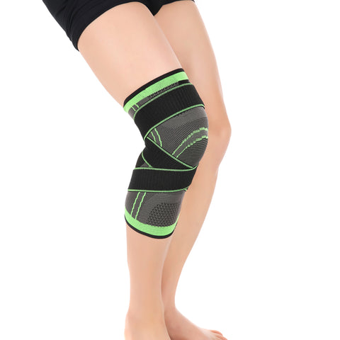 3D weaving pressurization knee brace basketball tennis hiking cycling knee support professional protective sports knee pad