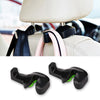 Image of 2pcs Auto Car Back Seat Headrest Holder Hanger Hooks Clip for Purse Bag Cloth Grocery Automobile Interior Accessories 3 Colors