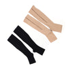 Image of NEW 1pair Zip Sox Compression Socks Zipper Leg Support Knee Stockings Open Toe