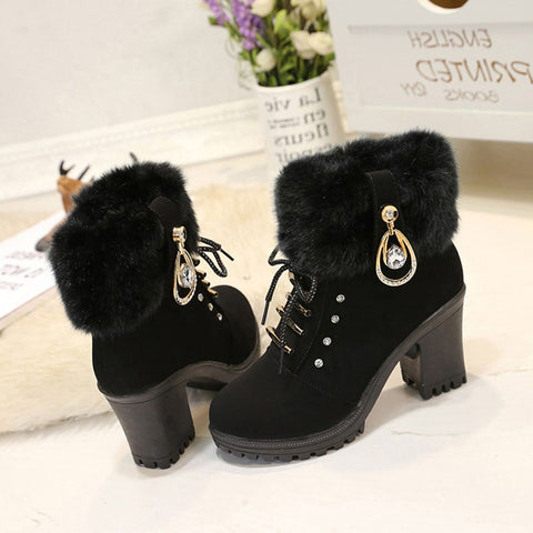 VTOTA Women Autumn Boots Fashion Winter Boots 2017 Ankle Boots For Women High Heels Shoes Woman Platform Shoes Botas Mujer E4