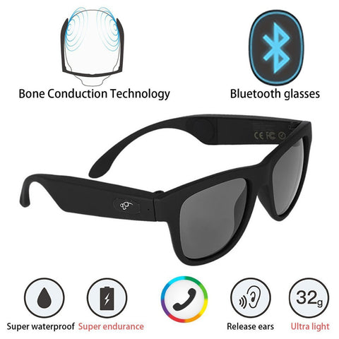 G1 Polarized Glasses Sunglasses Bluetooth Bone Conduction Headset SmartTouch Stereo Earphones Wireless Headphones w/ Microphone