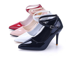 VTOTA Women Leather Pumps High Quality High Heels Pointed Toe Zapatos Mujer Shallow Mouth Sexy Pumps High Heel Shoes Woman P102
