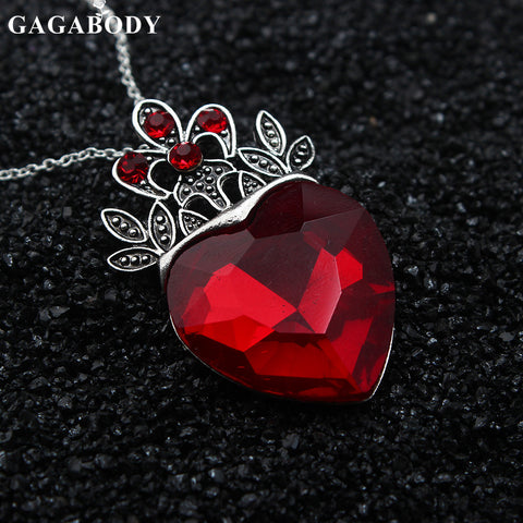 Valentine's Day Evie Necklace Descendants Red Heart Crown Necklace Queen of Hearts Costume Fan Jewelry Pre Teen Gift for Her