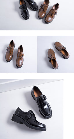 CZRBT British Style Women Casual Flats Shoes Soft Solo For Walking Genuine Cow Leather Top Quality Handmade Oxfords Derby Shoes