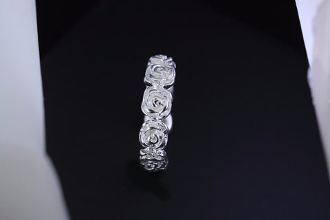 50% OFF on 2018 love Best Selling silver ring Rose Flower Open Women anillo para hombre de boda wedding gift jewelry 925