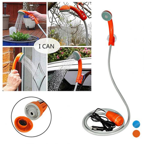 Newest Portable 12 V Handheld Outdoor Shower With Water Pump For Camping Travel Car Wash Swimming Garden Shower Pet Showers