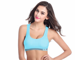 5 Color Professional Absorb Sweat Top Casual Vest Tanks, Shockproof Fahion Women Seamless Padded Bra M L XL J1020