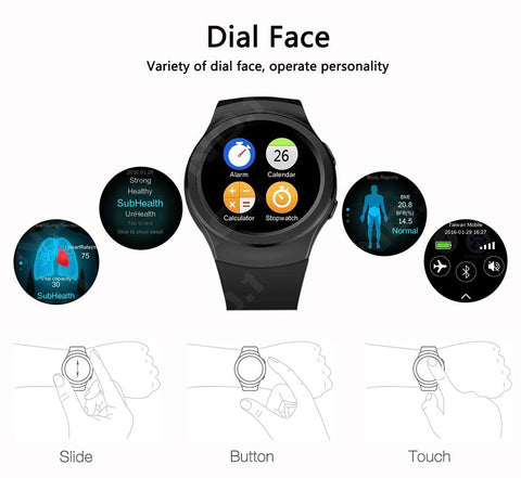 Smart Watch NO.1 S3 S2 T2 Round screen Bluetooth Watch for iphone 6/5s iOS Android Smartphone pk kw18 g3 AS2 Q18 DZ09