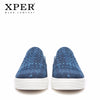Image of XPER Brand 2018 New Fashion Spring Men Loafers Man Slip-On Walking Shoes Men Hemp Casual Footwear Comfortable Blue #XHY18017BU